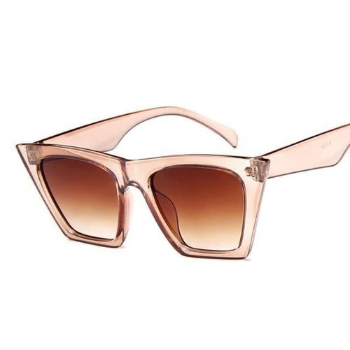 Luxury Man/Women Cat Eye Sun Glasses Cat Eye Sun Glasses Dashery Box Champagne