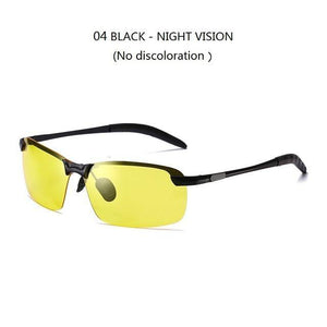 Male Change Color Chameleon Sunglasses Day Night Vision Driver's Eyewear Night vision sunglass Dashery Box 04 NIGHT VISION