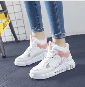 2020 winter Platform Increase ankle Shoes Women Plush Snow boots warm round head Casual Sneakers Female Snowboots Martin boots - Dashery Box