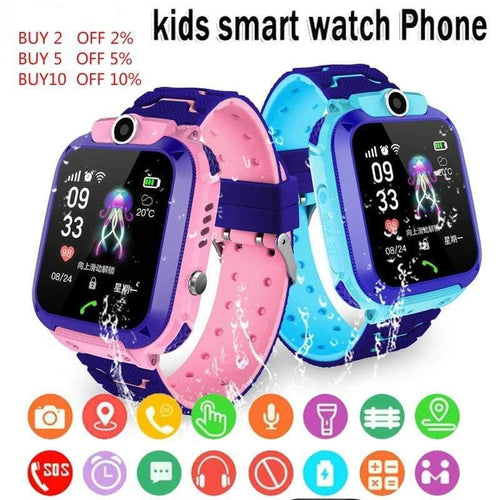 Q12 Children's Smart Watch SOS Phone Watch Smartwatch For Kids With Sim Card Photo Waterproof IP67 Kids Gift For IOS Android Childen's watch Dashery Box