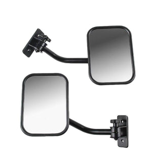 Doors Off Mirrors For Jeep Wrangler Tj, Jk, Lj Quick Release Side Mirrors Black 2Pack - Dashery Box