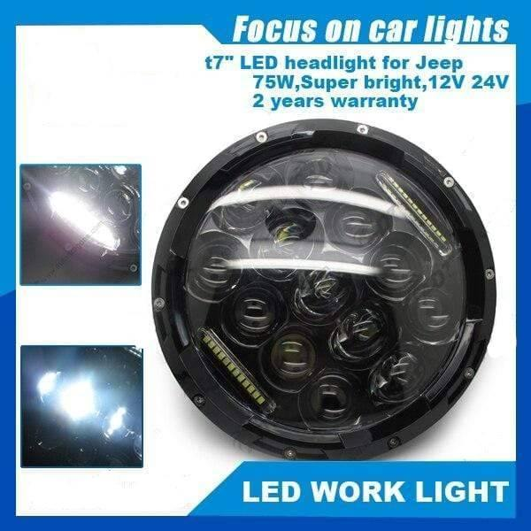 LED WORK LIGHT Black Cover Headlight For Jeep Wrangler Jeep accessories Dashery Box