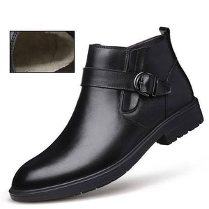Men's Business Casual Winter Boots Mens Business boots Dashery Box