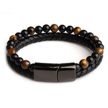Load image into Gallery viewer, Men's Tiger eye Bead Bracelet Dashery Box Tiger eye style 18.5cm