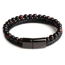 Load image into Gallery viewer, Men's Tiger eye Bead Bracelet Dashery Box Red Tiger eye style 18.5cm