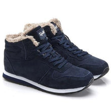 Load image into Gallery viewer, Genuine Leather Winter Shoes Dashery Box dark blue 6