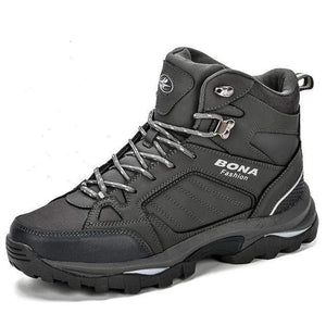 Tactical Leather Boots TheSwirlfie Dark Gray Silver 8