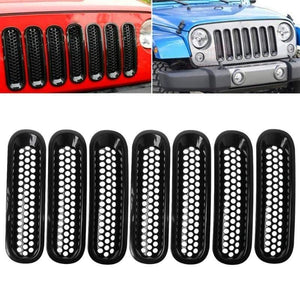 Matte Black Mesh Grille Inserts For Jeep Wrangler JK 07-18 Dashery Box
