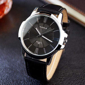 YAZOLE Classic Watch TheSwirlfie Black