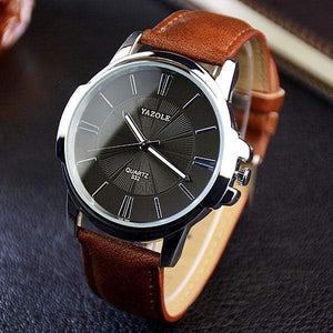 YAZOLE Classic Watch TheSwirlfie Brown & black