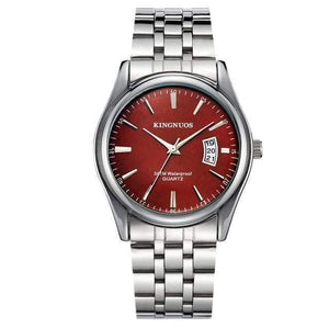KINGNUOS Luxury Watch TheSwirlfie Silver Red