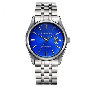 KINGNUOS Luxury Watch TheSwirlfie Silver Blue