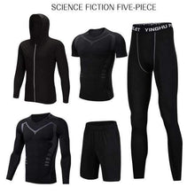 Load image into Gallery viewer, REXCHI 5 Pcs/Set Men's Gym wear TheSwiftzy Science Fiction S