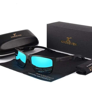 KINGSEVEN Sporty Protective Sunglasses TheSwirlfie Black Blue