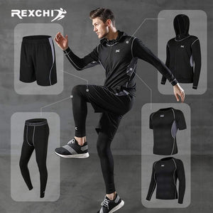 REXCHI 5 Pcs/Set Men's Jogging Sport Wear TheSwiftzy