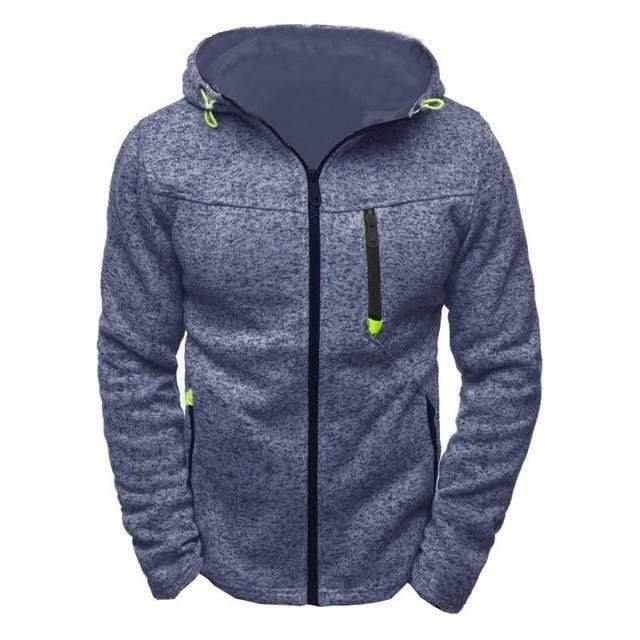 Men's Sports Casual Zipper Sweatshirts TheSwiftzy Navy Blue S