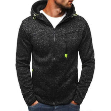 Load image into Gallery viewer, Men's Sports Casual Zipper Sweatshirts TheSwiftzy Black Gray S