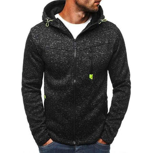Men's Sports Casual Zipper Sweatshirts TheSwiftzy Black Gray S