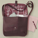 Shoulderbag, Back Yard, Aubergine