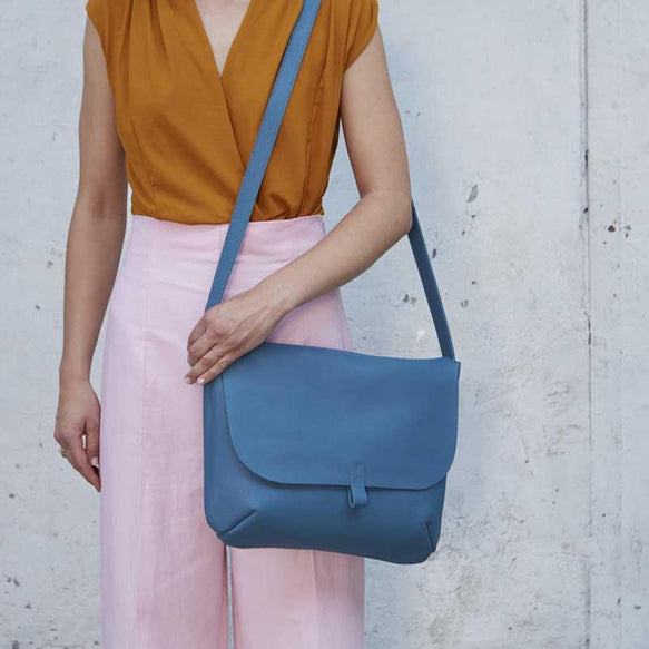 Shoulder bag, Back Yard, Faded Blue