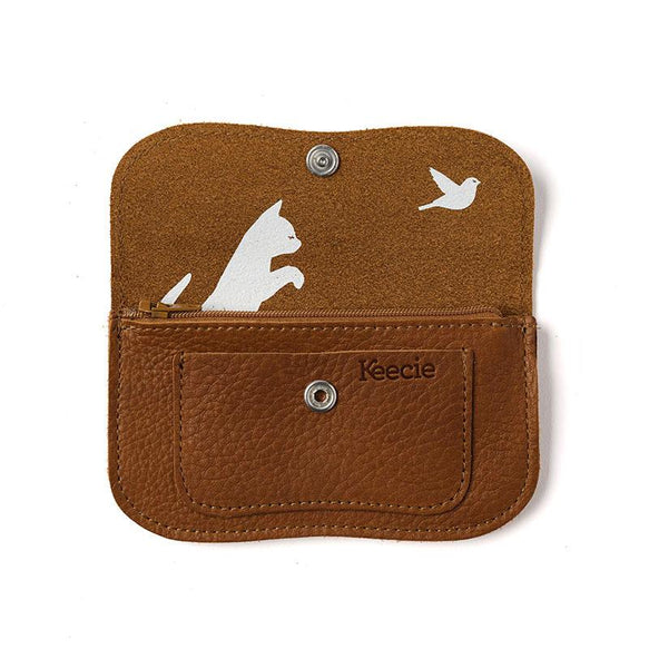 Wallet, Cat Chase Small, Cognac used look