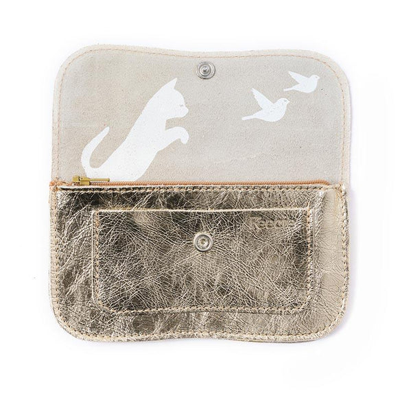 Wallet, Cat Chase Medium, Gold