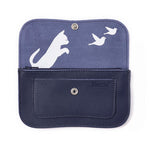 Wallet, Cat Chase Medium, Ink Blue