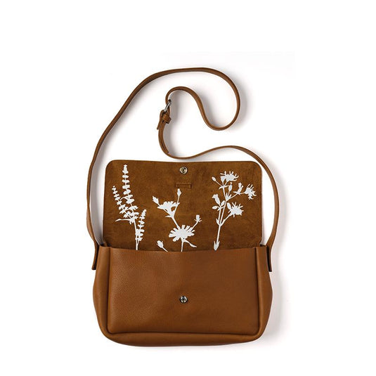 Bag, Picking Flowers Medium, Cognac used look