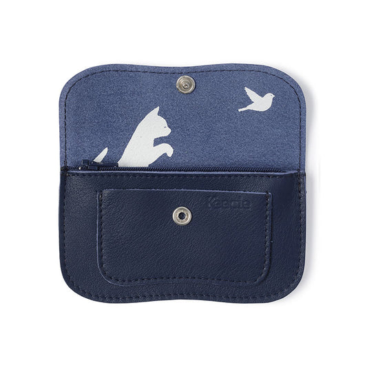 Wallet, Cat Chase Small, Ink Blue