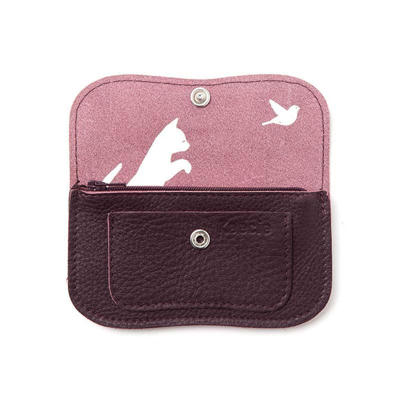 Wallet, Cat Chase Small, Aubergine