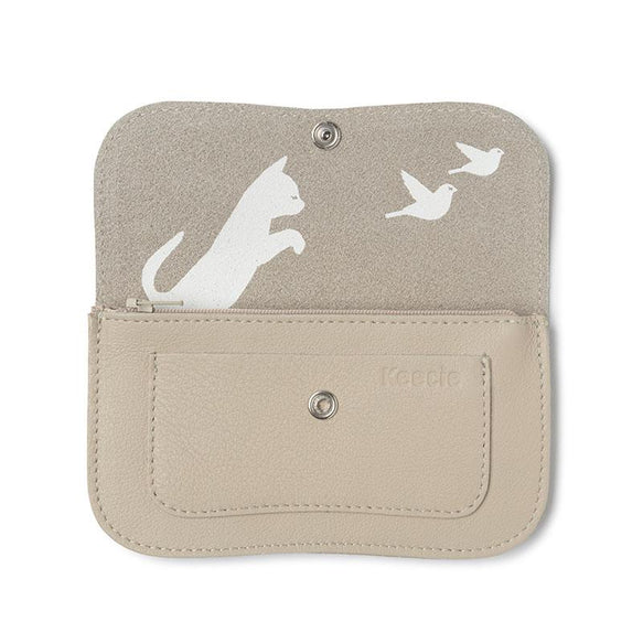 Wallet, Cat Chase Medium, Cement