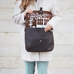 Shoulder bag, Back Yard, Dark Brown used look