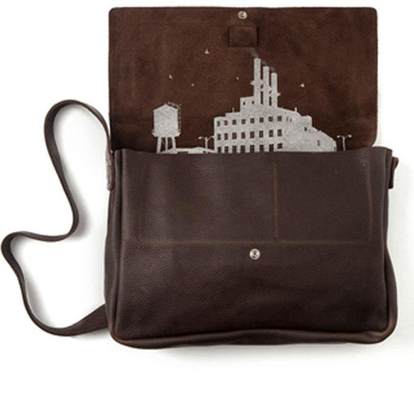 Bag, Big Business, Dark Brown used look