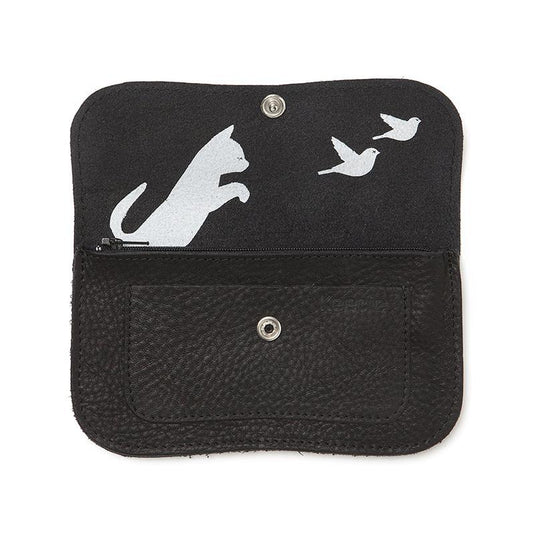 Wallet, Cat Chase Medium, Black