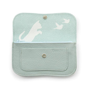 Wallet, Cat Chase Medium, Dusty Green