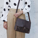 Bag, Flora & Fauna, Dark Brown used look