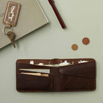 Wallet, Small Fortune, Dark Brown used look