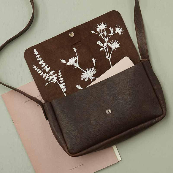 Bag, Picking Flowers Medium, Dark Brown used look
