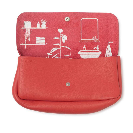 Toiletries bag, Time Flies, Coral