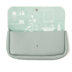 Toiletries bag, Time Flies, Dusty Green