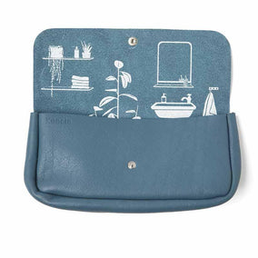 Toiletries bag, Time Flies, Faded Blue