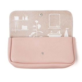 Toiletries bag, Time Flies, Soft Pink