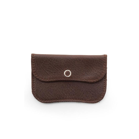 Wallet, Mini Me, Dark Brown used look