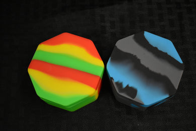 Octagon Silicon Wax Container