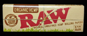RAW Organic Hemp 1 1/4 Papers