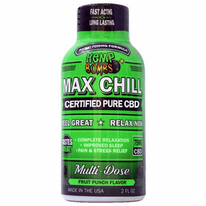 Max Chill Pure Organic CBD Shot - Hemp Bombs