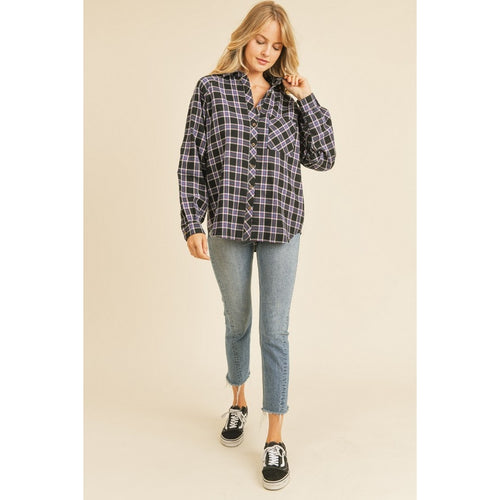 Black + Blue Plaid Flannel
