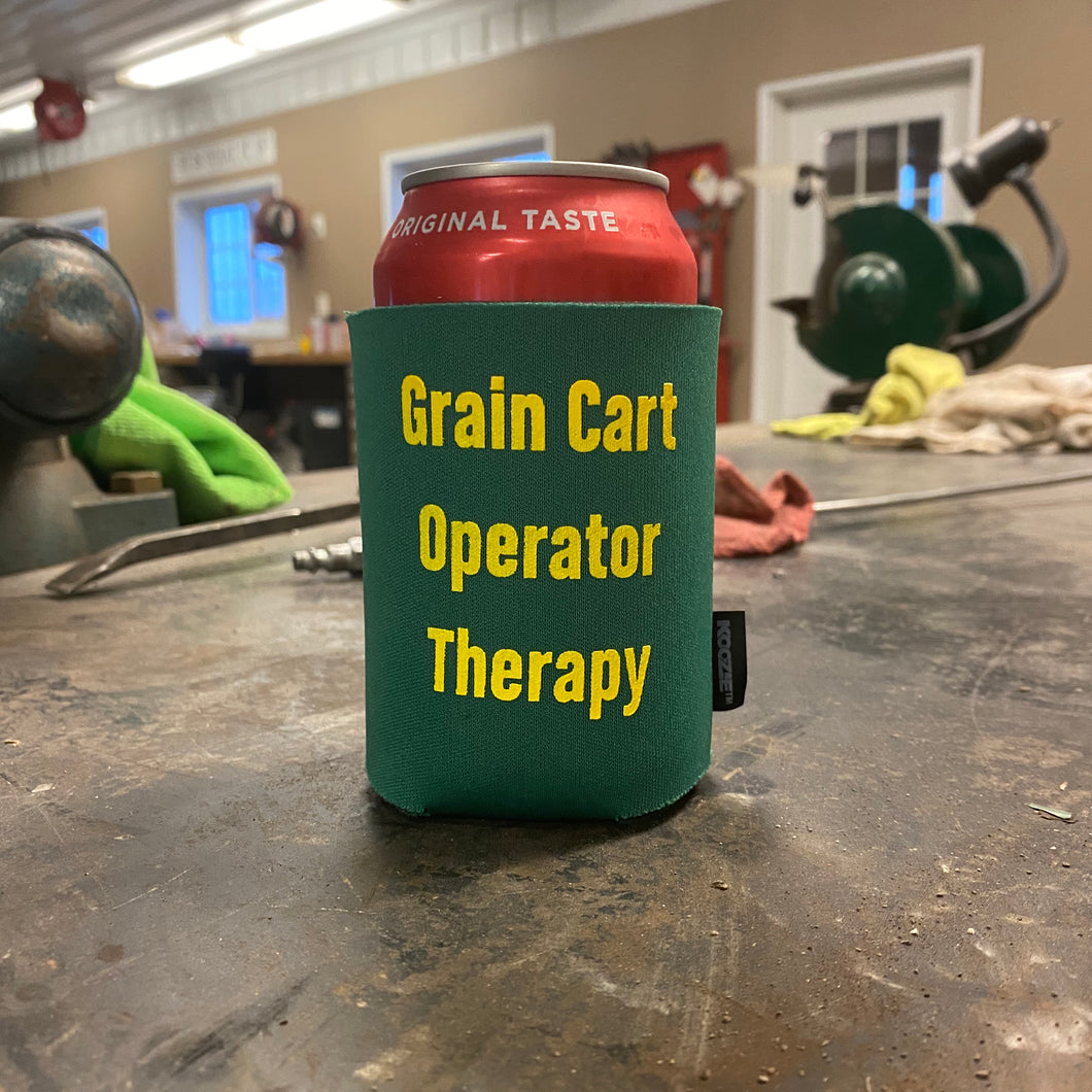 Grain Cart Koozie - Green