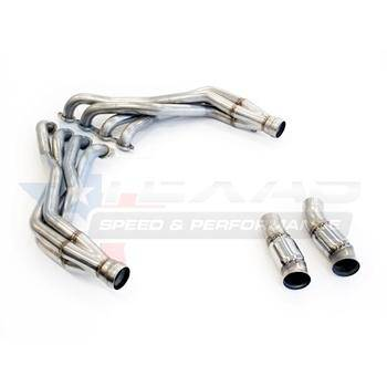 "2016+ Camaro SS 2.00"" Long Tube Headers & Catted Connection Pipes - 304 Stainless Steel"