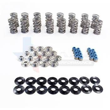 "TSP .660"" POLISHED Dual Spring Kit w/ PAC Valve Springs and Titanium Retainers - MailOrder Tuner"